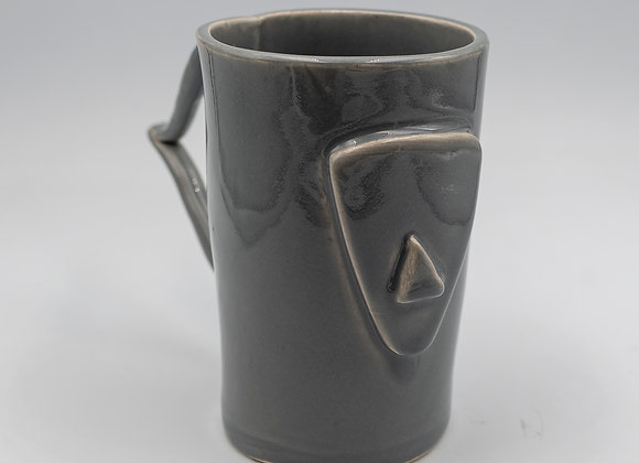 Handcrafted, Cycladian Style, Ceramic Mug in Gray