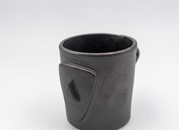 Handcrafted, Cycladian Style, Ceramic Short Mug in Mineral Gray