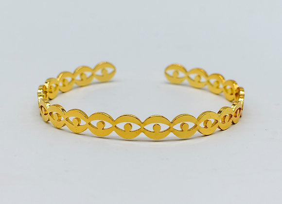 Gold Eye, Chain Bangle Bracelet