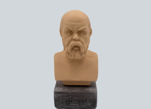 Socrates Coloured Figurine