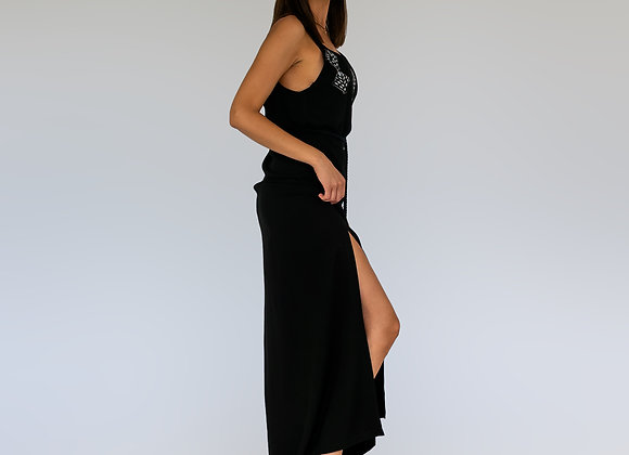 Amphitrite Maxi Dress in Black