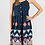 Thumbnail: Navy, Embroidered, Summer Dress with Bow Straps
