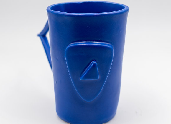 Handcrafted, Cycladian Style, Ceramic Mug in Aegean Blue