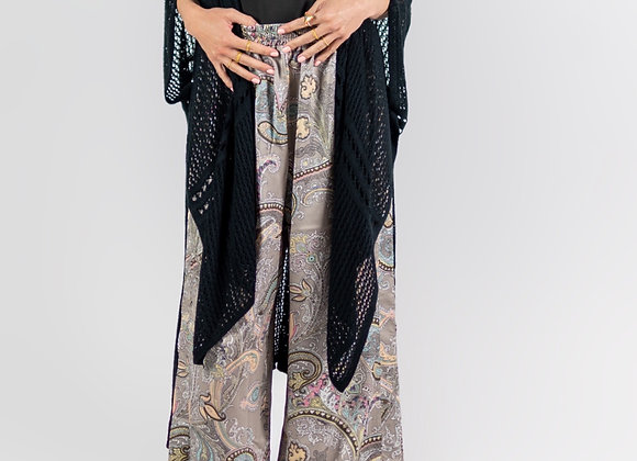 Paisley, Wide-Leg, Trousers