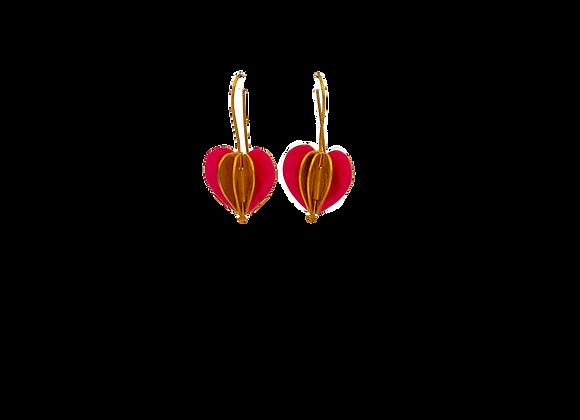 Heart Foldable Gold Plated Earrings