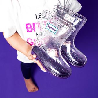 Squelch Sparkle Rain Boot