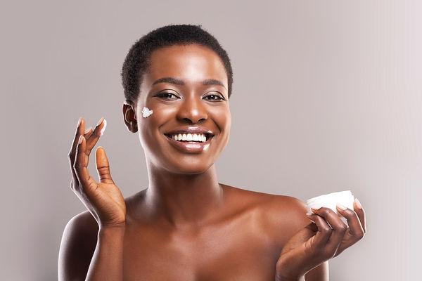 Skin Hydration. Portrait Of Cheerful Bla