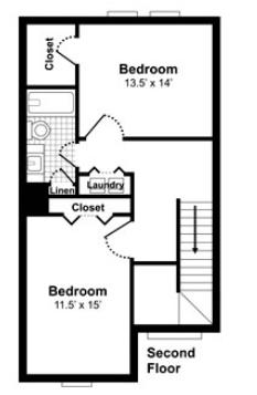 2D Floor Plans -  Studio - 3 bedrooms