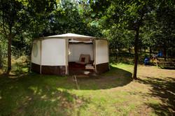yurt exterior woodland escape CGH PP