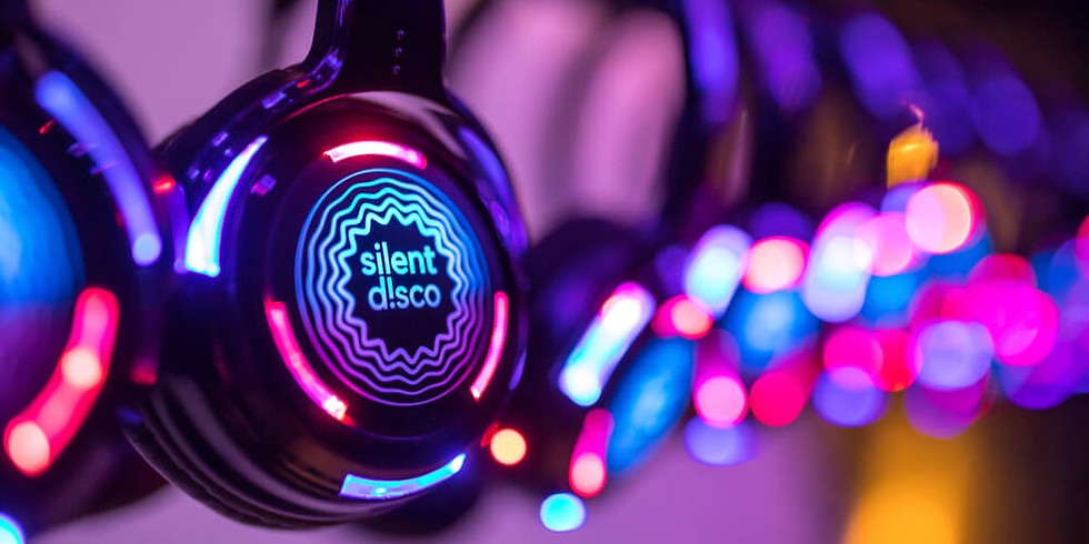 Silent disco Bank Holiday Festival with bubbles