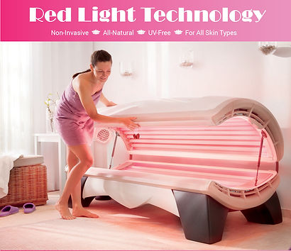 Red Light therapy bed, Red light decreases skin inflammation, smooths skin tone, repairs sun damage, fades scars