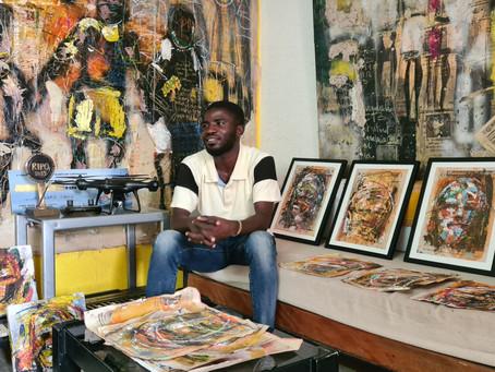 Bernard Tano, le peintre qui veut immortaliser l'enfance