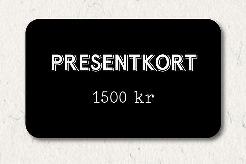 Presentkort - 1500