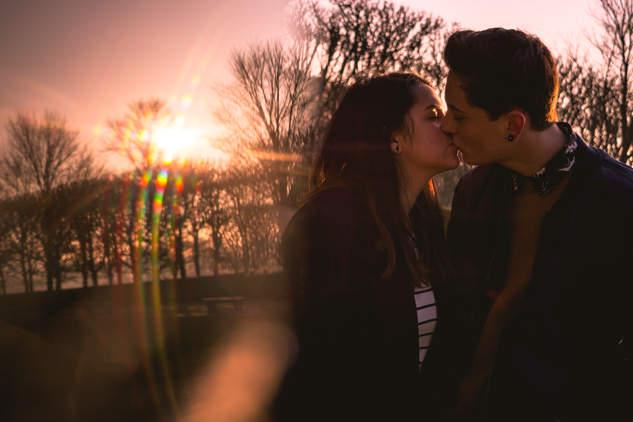Séance Couple au Parc de Sceaux. Pour fêter leur 1 an de bonheur ensemble!