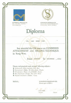 Certificate of Achievement - Combined At