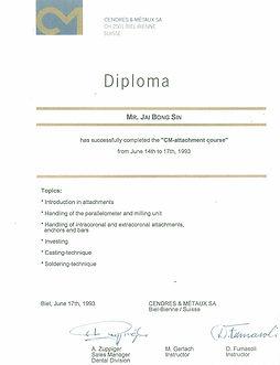 Certificate of Achievement - CM Attachme