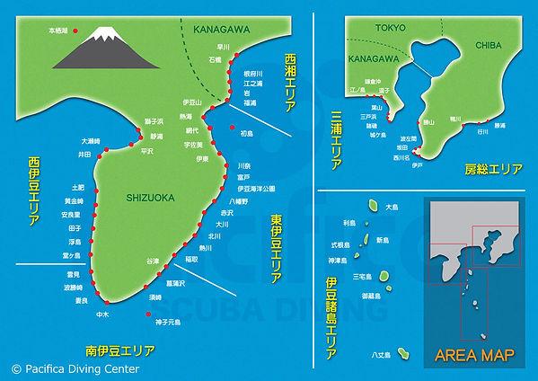 ダイビングエリアマップ