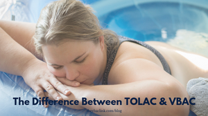Birthing mother during her TOLAC (Trial of Labor After Cesarean)