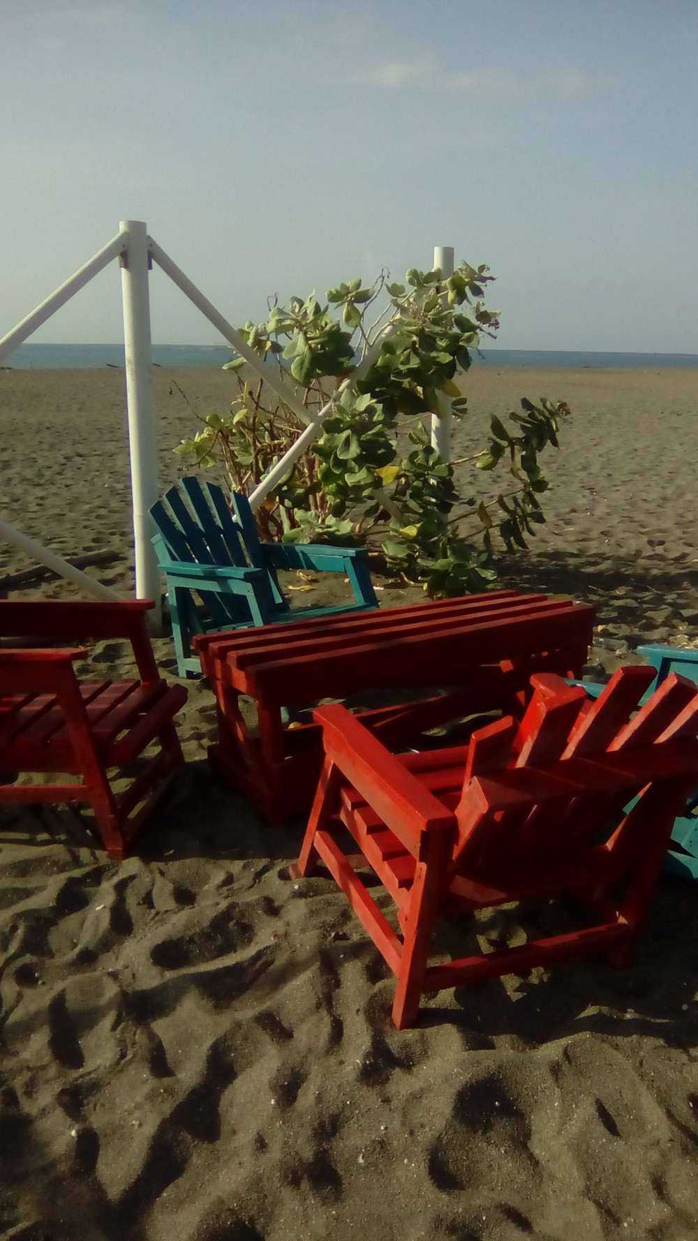 Beach Chairs and Bench
