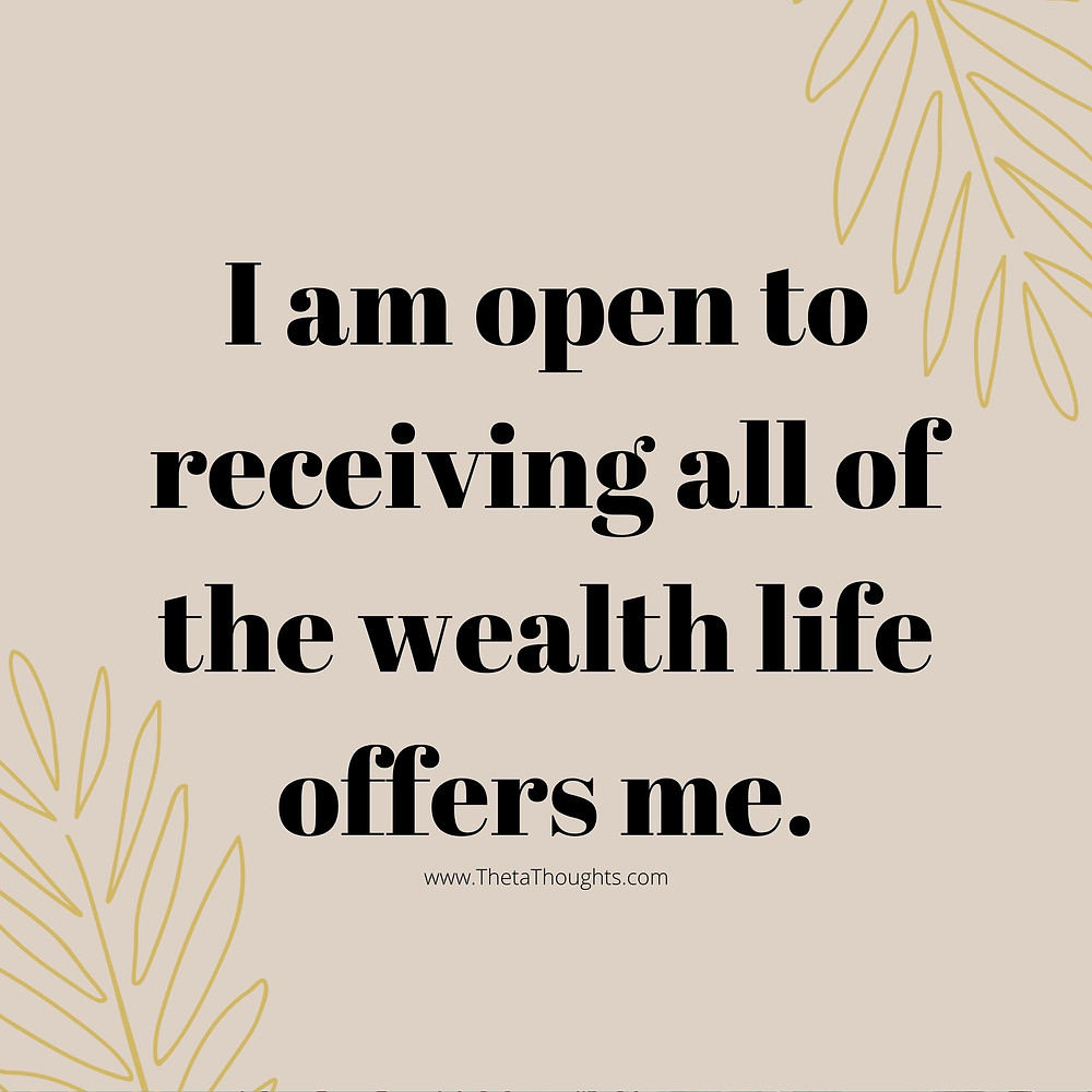 Abundance Affirmations to attract financial wealth.