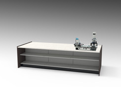 60 inch Deep Counter with Machine