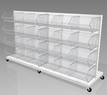 Mobile Wire Basket Cart