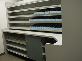 Wall Unit with Bins & Under-Counter Narcotics Cabinet