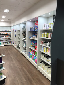 Pharmacy Display Wall Shelving