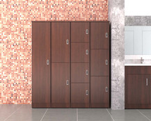 Woodgrain Lockers