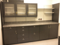 Wall Unit with Glass Front Narcotics Cabinets