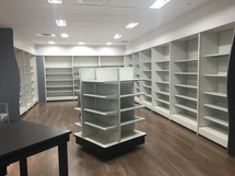 Display Wall Shelving & 4-Way Display