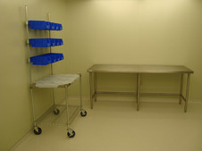 IV Supply Cart and Stainless Table
