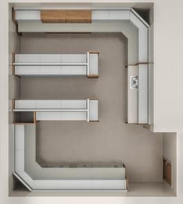 InPatient Clinc Overview 3-D Floorplan