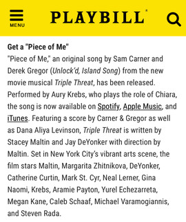 Triple Threat in Playbill