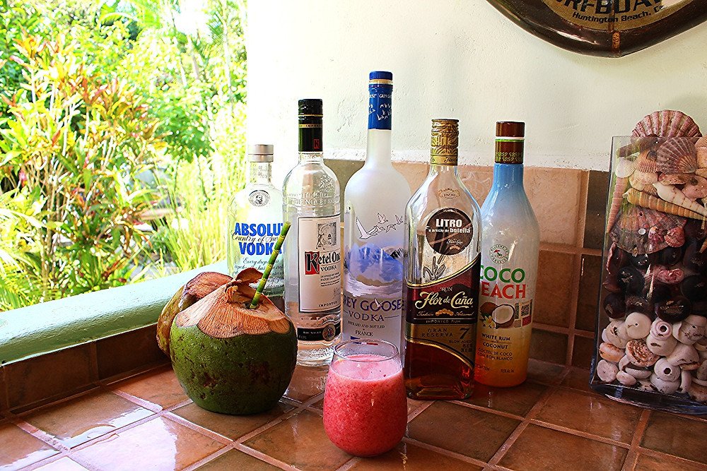 Coconut Water Smoothies and booze