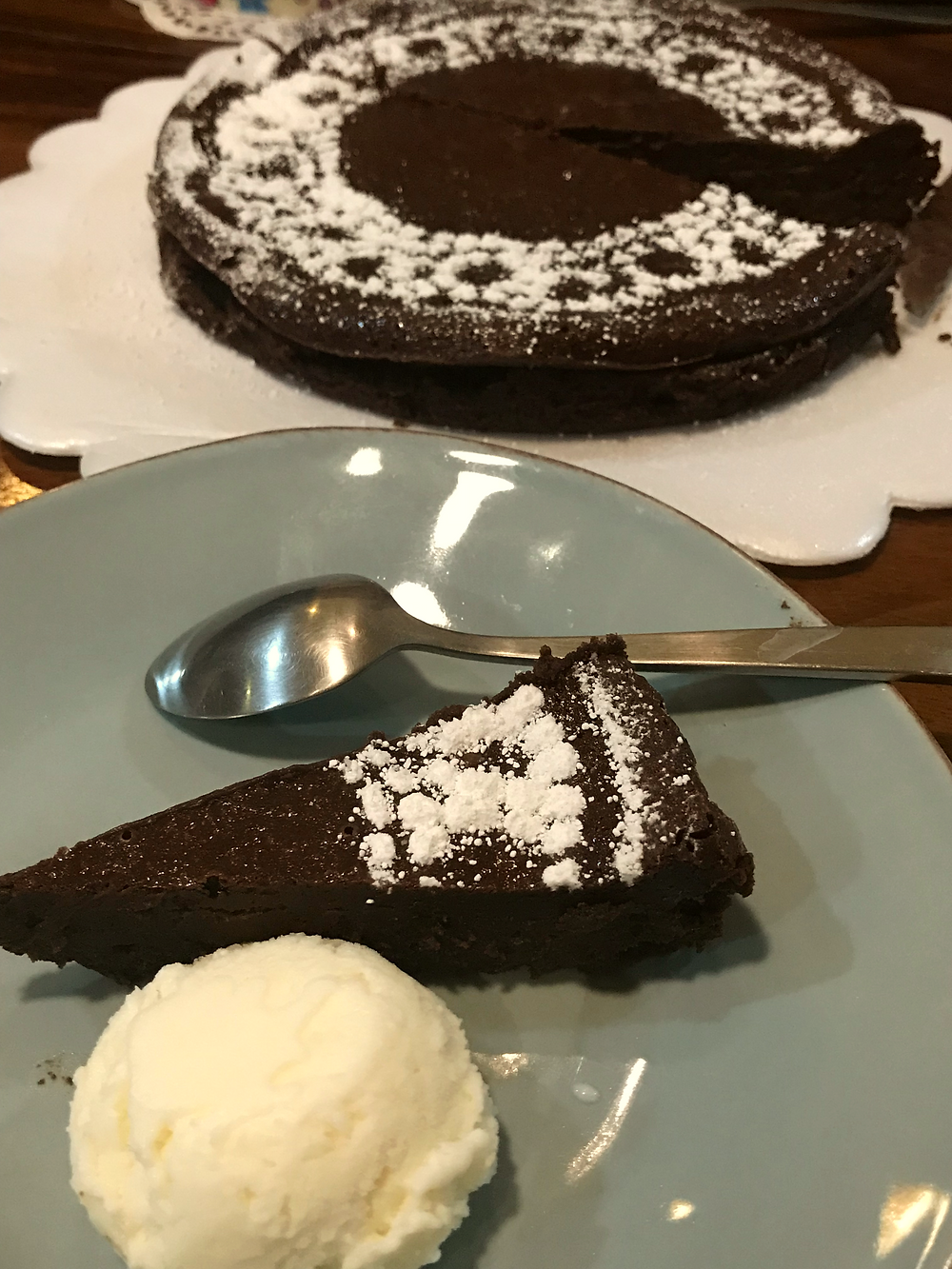 Almost Flourless Chocolate Cake