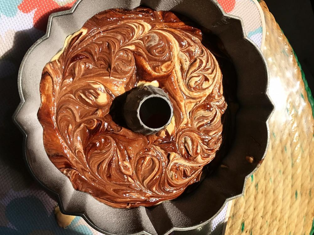 Chocolate Lemon Bunt Cake