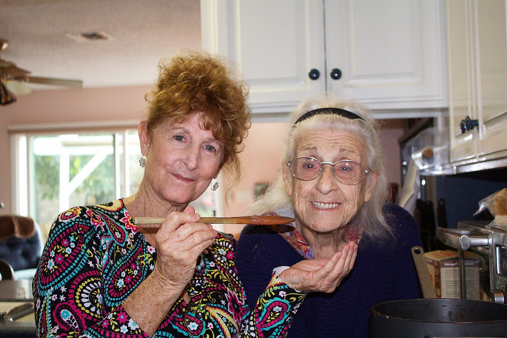 My mother with Alzheimer's and my food