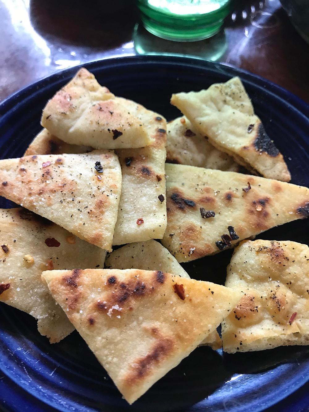 Home made pita chips