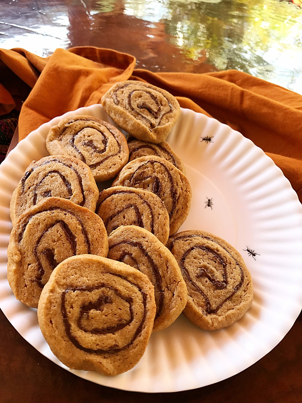 chocolate peanut butter pinwheels cookies