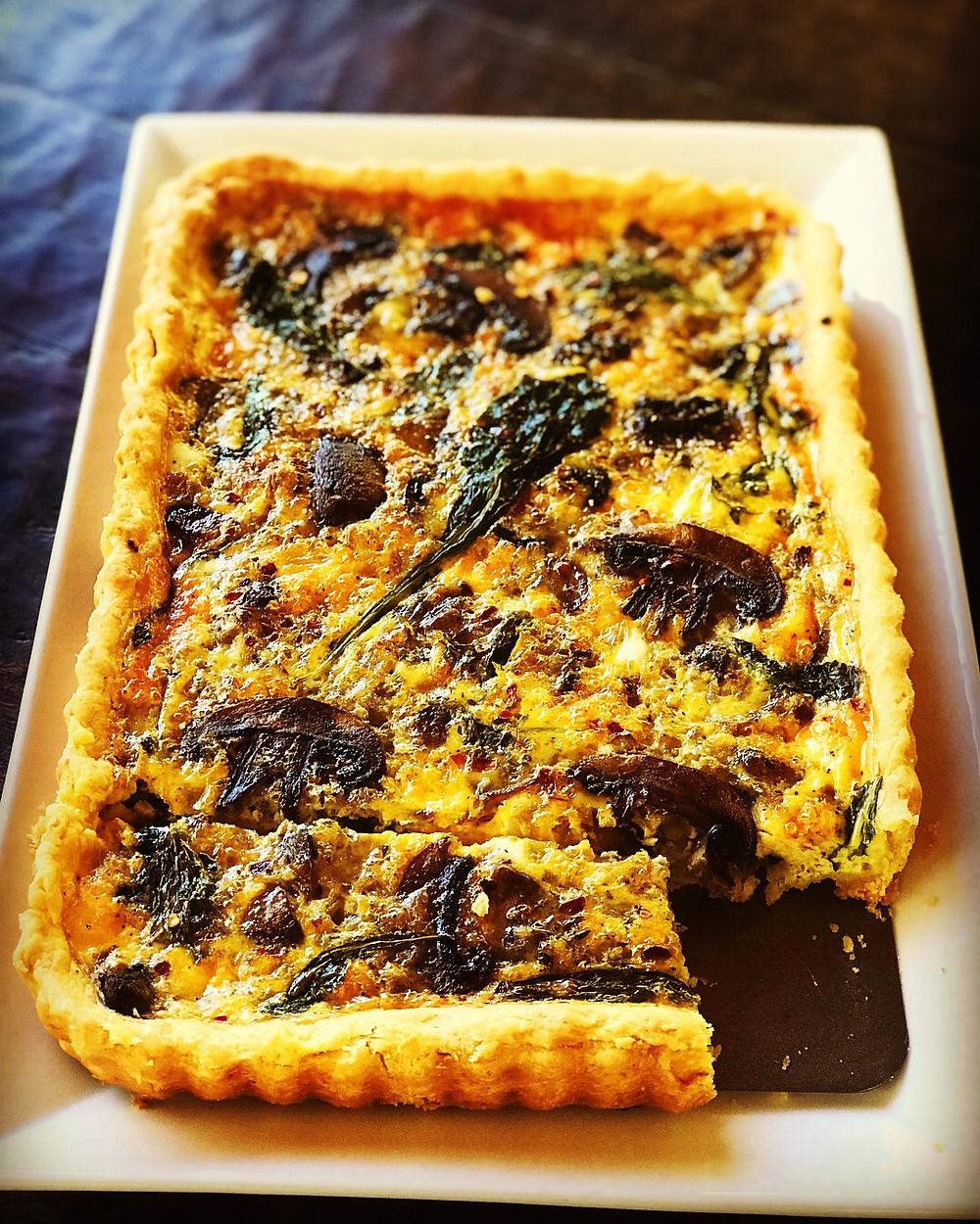 Sourdough Crust and Mushroom Cheese Quiche