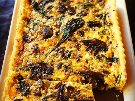 Sourdough Parmesan Crust, Quiche