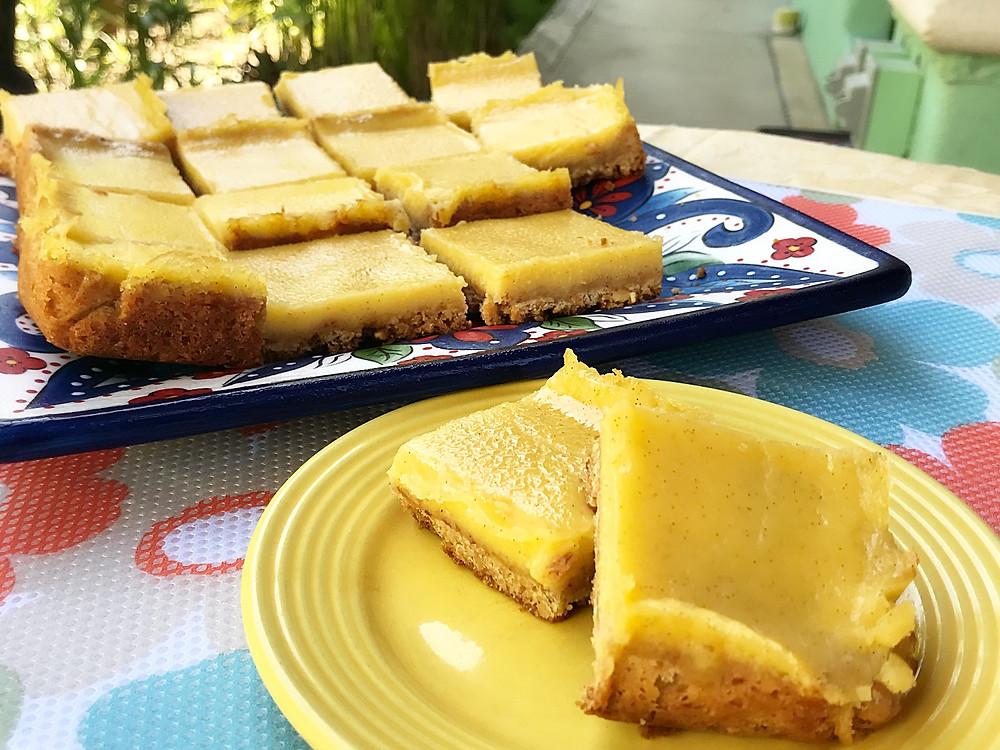 Gluten Free Lemon Bars with Vanilla Bean