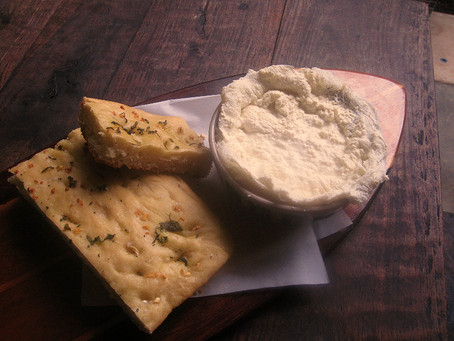 What's cooking today. Rosemary, Basil Focaccia and Ricotta Cheese