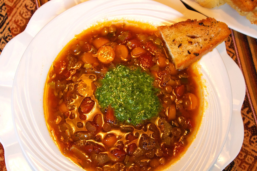 Lentil Soup with Pesto, the best