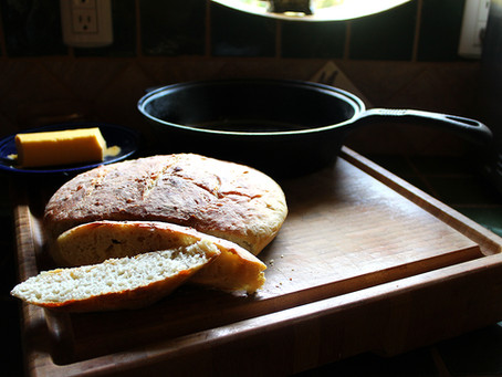 Keeping it simple no knead bread and planting some seeds