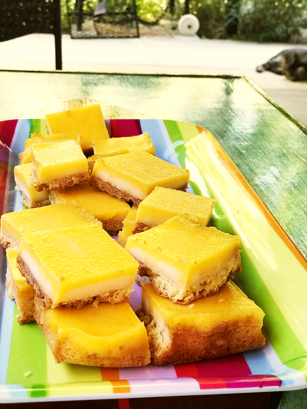 Lemon Bars with Macamadia Nut Shortbread