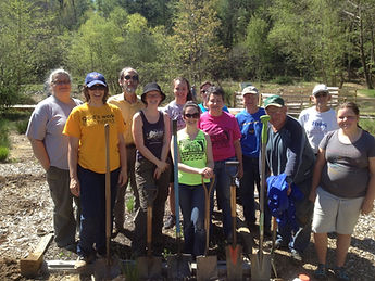 Volunteers helping out at Beaver Lake Bird Sanctuary