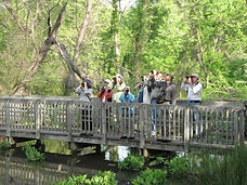 Birders at Beaver Lake Bird Sanctuary