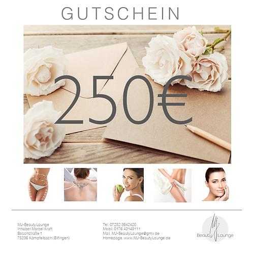 Online Wertgutschein 250,- Euro